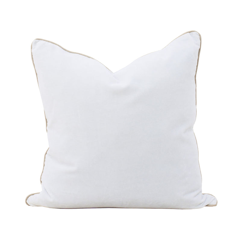 Unari Chalk Velvet Cushion