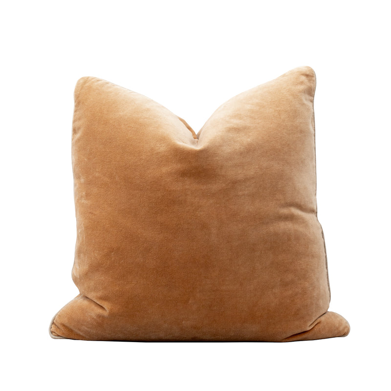 Unari Camel Velvet Cushion