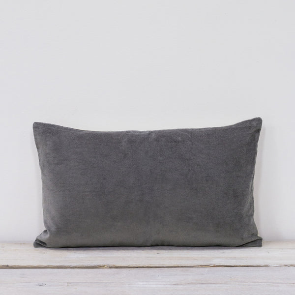 Misi Pewter Grey Velvet Cushion