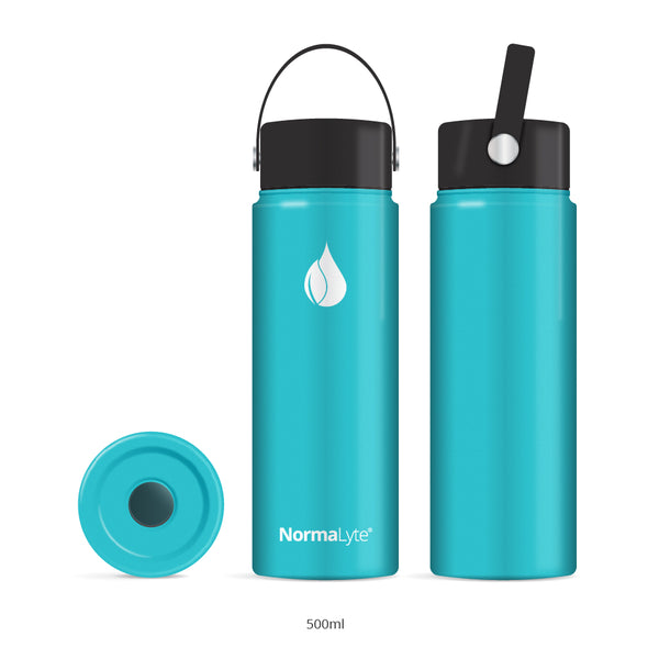 NormaLyte Water Bottle - Stainless Steel and Vacuum Insulated (20 oz)