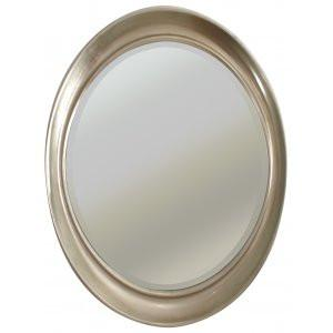 Oval Antique Silver Mirror-Round Mirror-Chic Concept