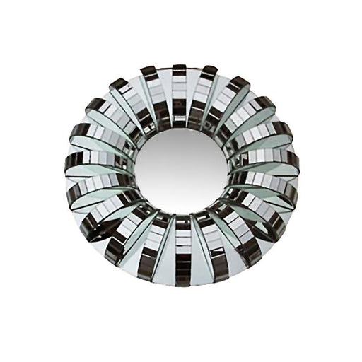 Round Art Deco 3D Mirror