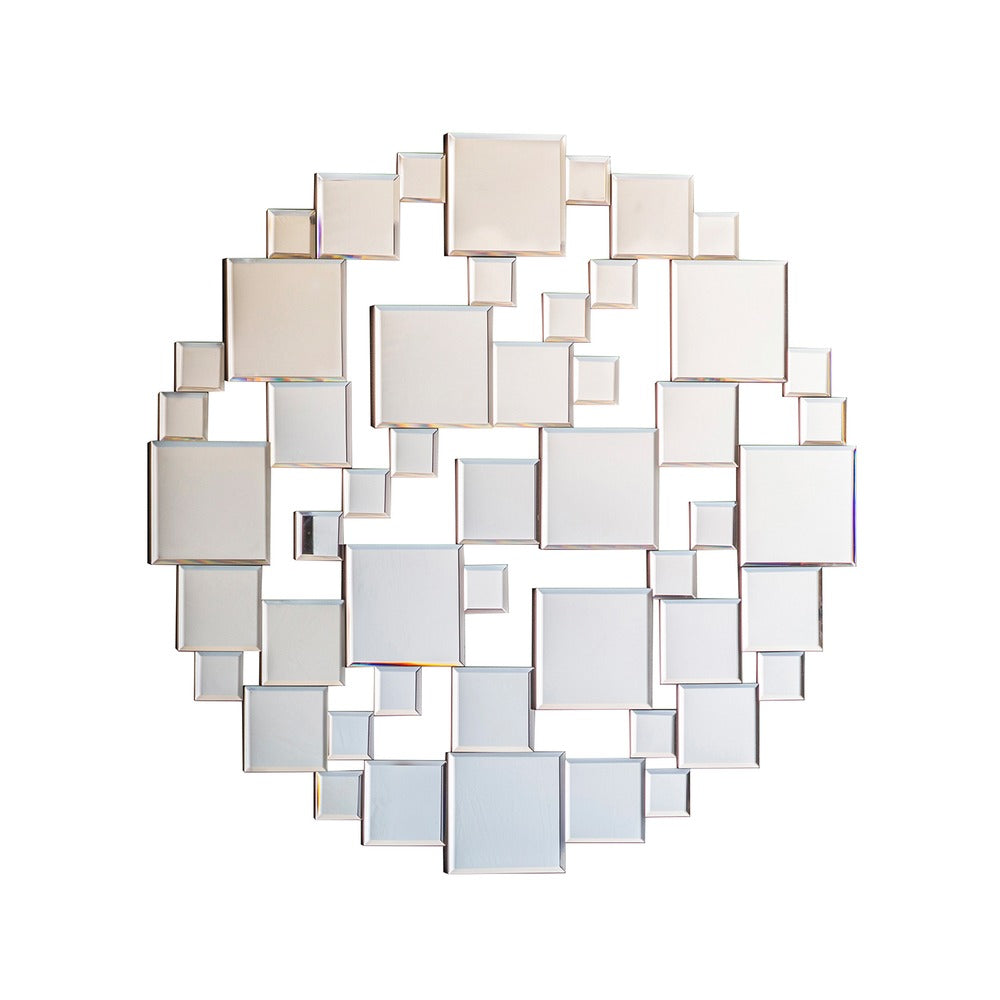 Dawes Multi Facet Round Wall Mirror