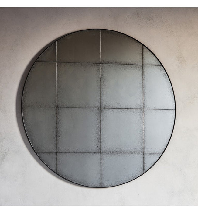 Antique Boxley Round Wall Mirror