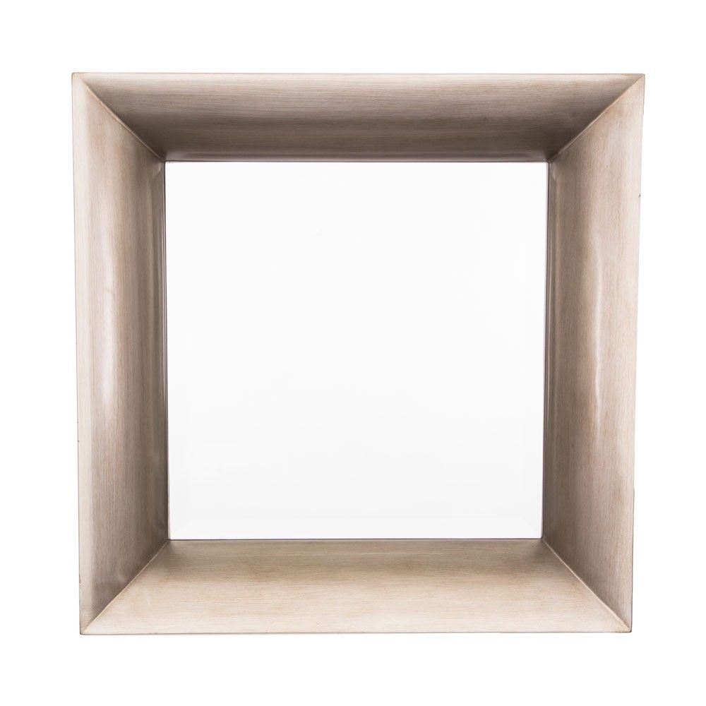 Halse Champagne Silver Square Wall Mirror