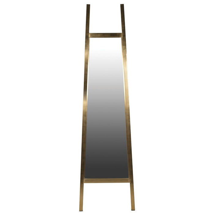 Brushed Gold Cheval Floor Standing Mirror