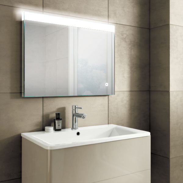 Alpine LED Rectangular Bathroom Wall Mirror - 60 cm x 80 cm