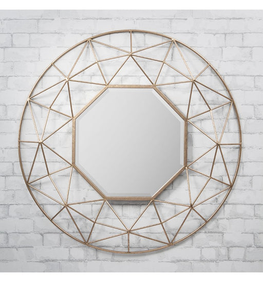 Andromeda Gold Round Wall Mirror