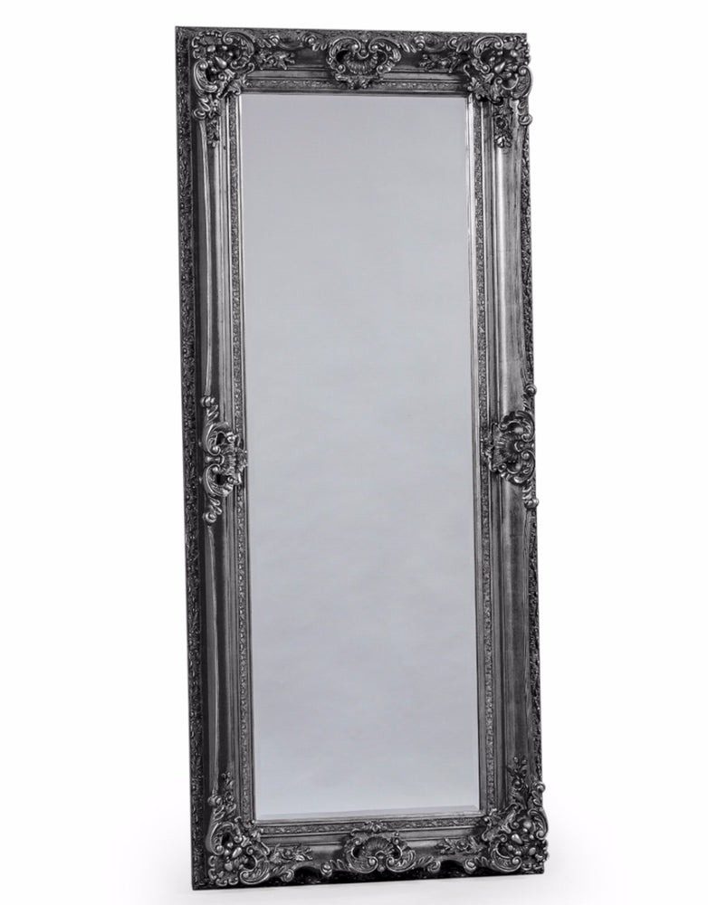 Antique Silver Tall Regal Leaner Mirror
