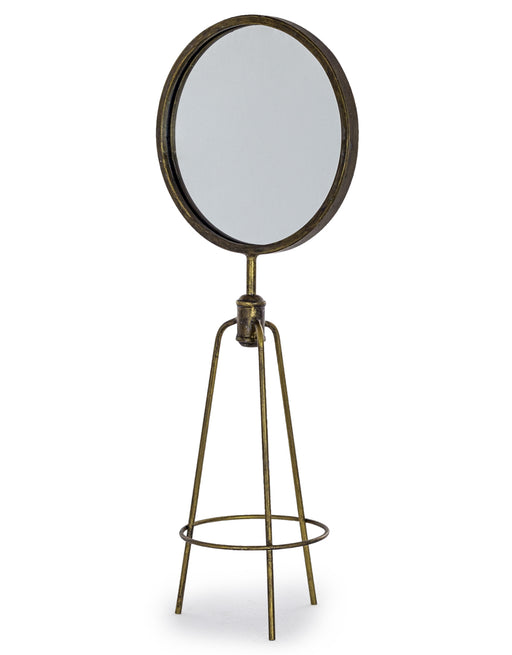 Antiqued Bronze Tripod Table Mirror