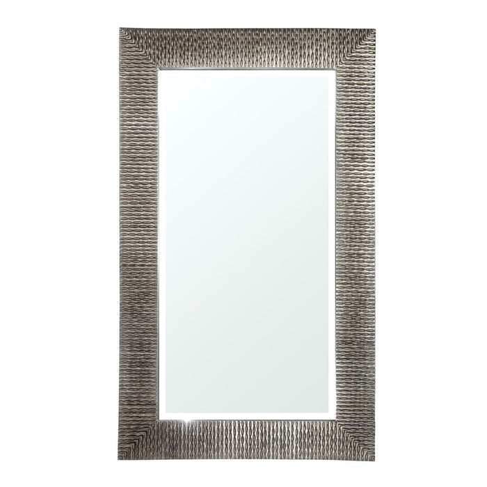 Ares Distressed Silver Rectangular Wall Mirror