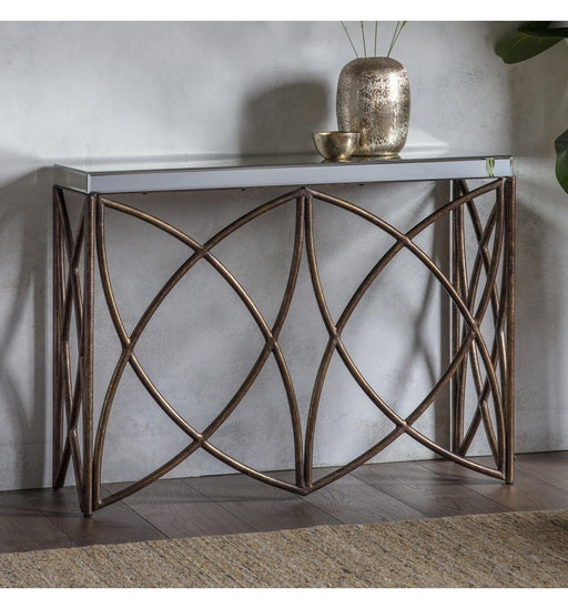 Beckfield Mirrored Console Table