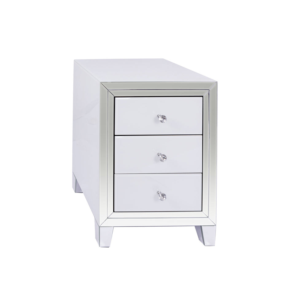 Bianco 3 Drawer Bedisde Table