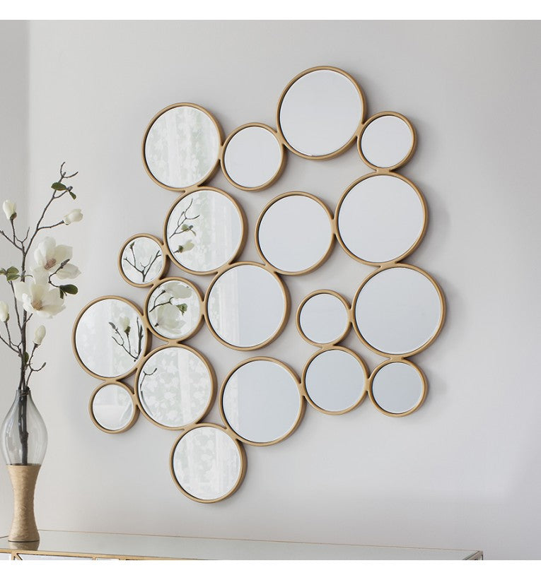 Camilla Decorative Gold Bubbles Wall Mirror