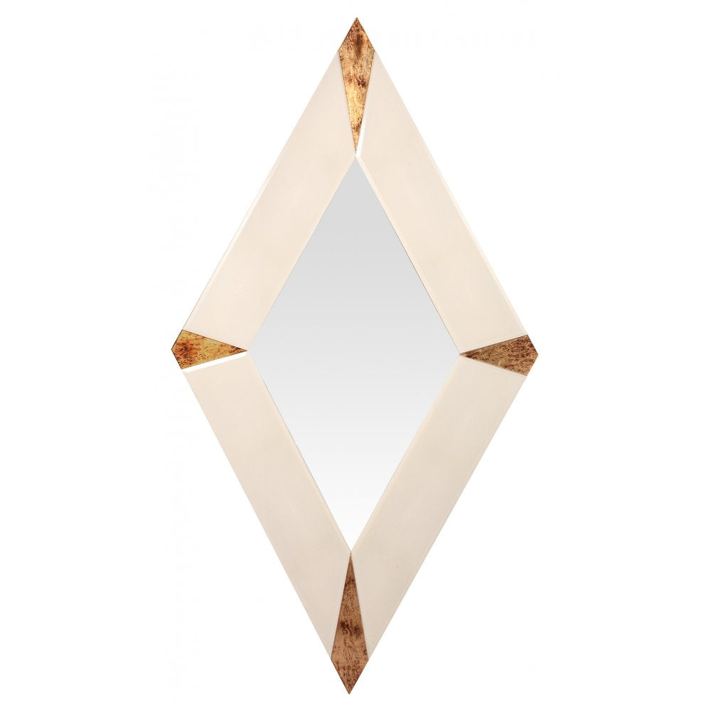 Carno Iced White and Gold Diamond Mirror