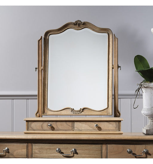 Shabby Chic Weathered 2 Drawers Dressing Table Mirror