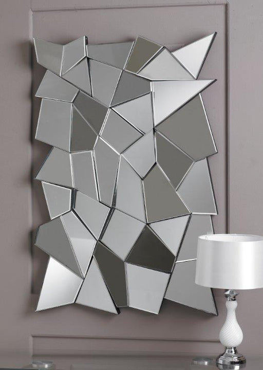 Modern Rectangular Multifacet Mirror-Multi Facet Mirror-Chic Concept