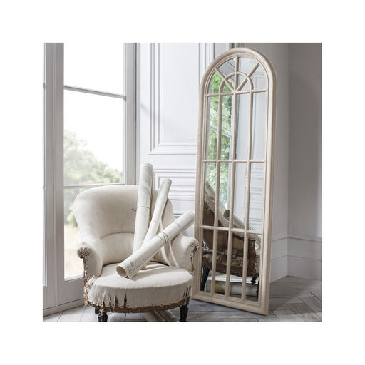 Curtis White Antique Arch Mirror