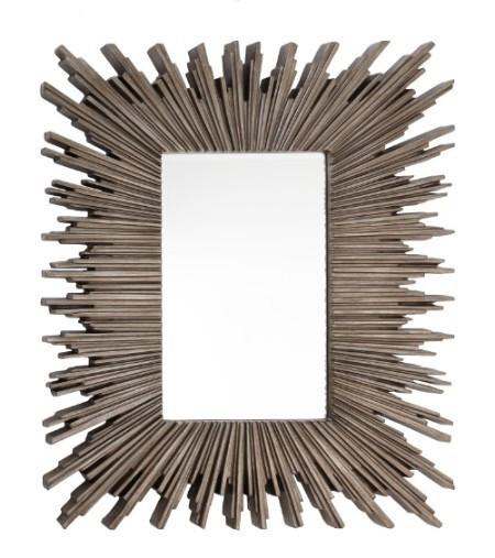 Darcey Distressed Silver Wall Mirror-Wall Mirror-Chic Concept