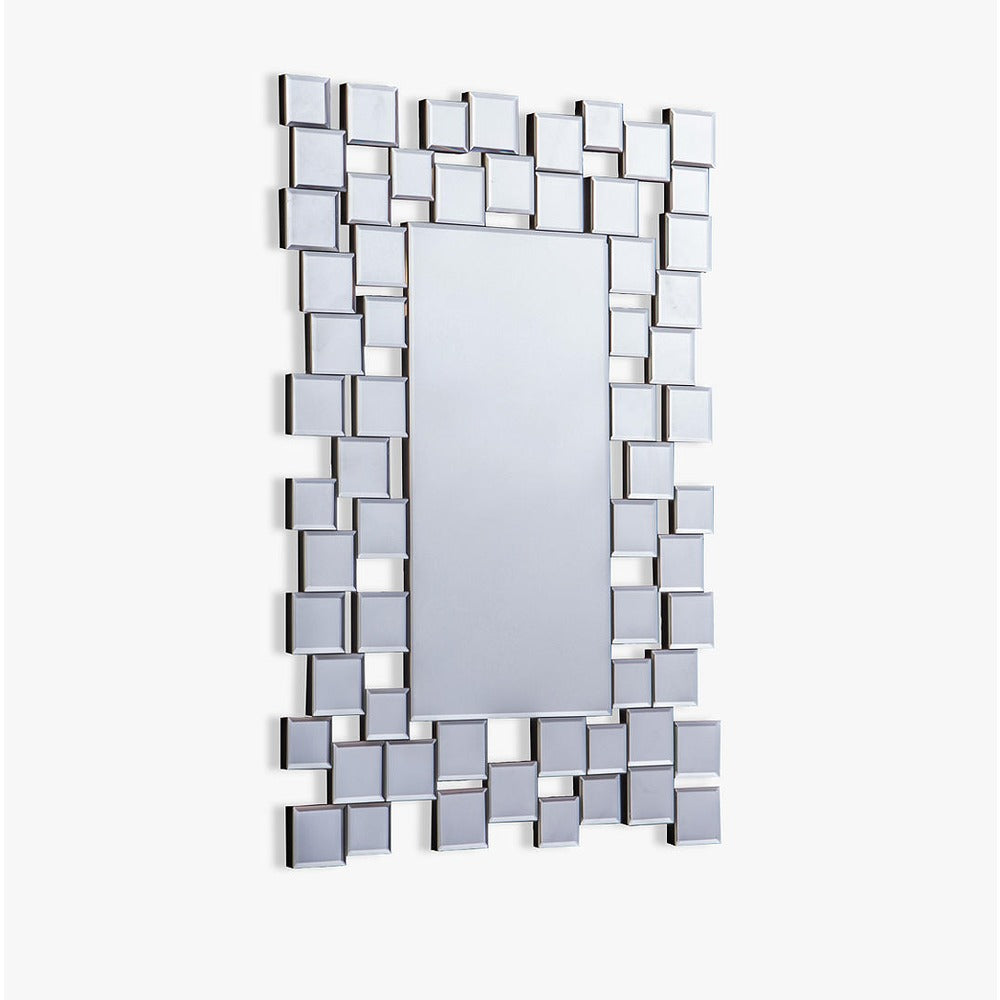 Dawes Multi Facet Rectangular Wall Mirror
