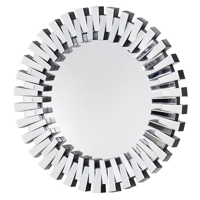 Round Art Deco Bevelled Glass Panels Mirror