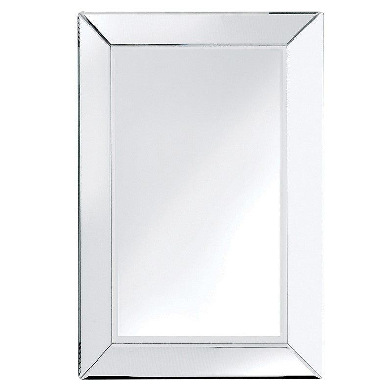 Clear Border Venetian Rectangular Wall Mirror