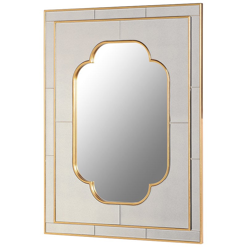 Willow Rectangular Gold Frame Wall Mirror