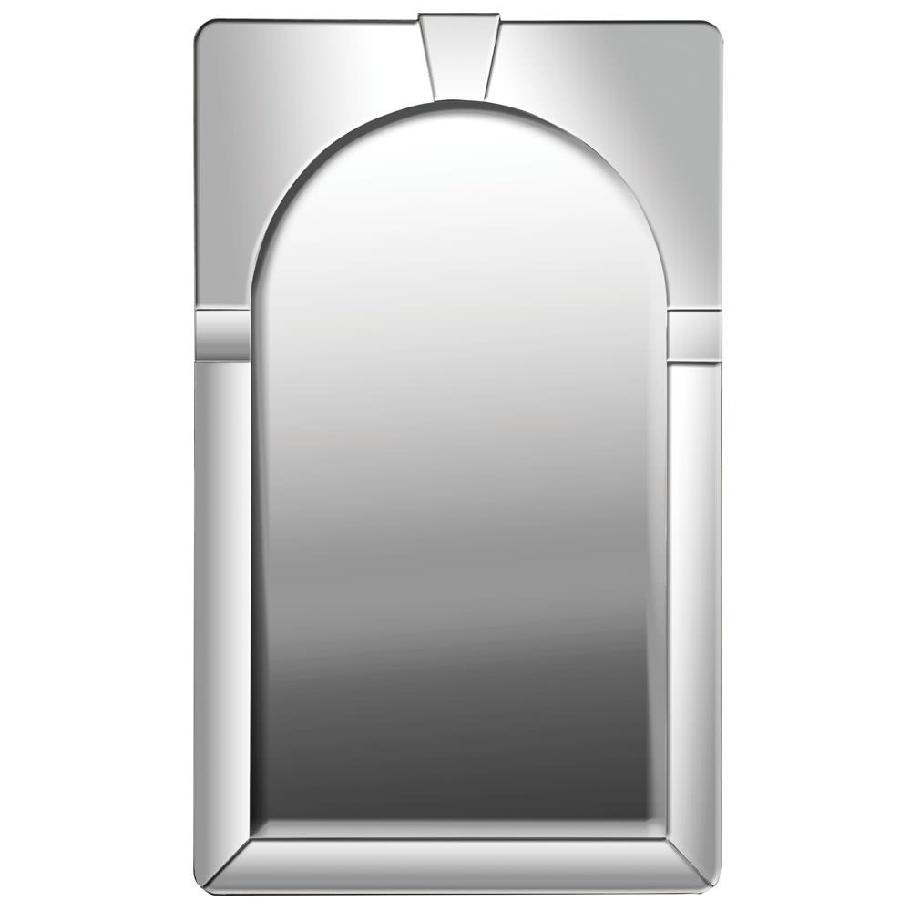 Arched Silver Wall Mirror
