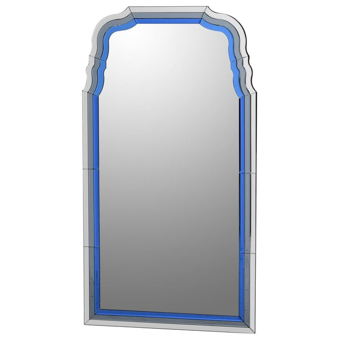 Modern Blue Inlay Wall Mirror
