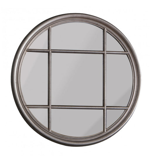 Eccleston Silver Round Window Wall Mirror