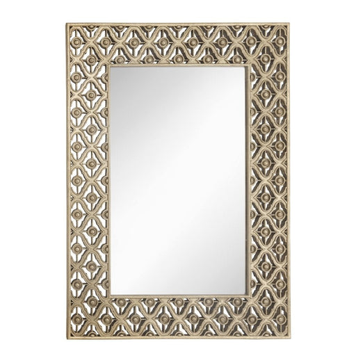 Edith Antique Brass Rectangular Wall Mirror