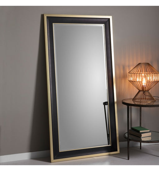 Edmonton Black & Gold Leaner Mirror