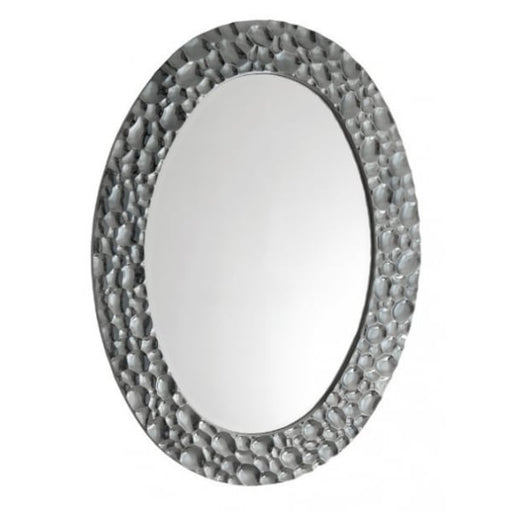 Eira Chrome Oval Wall Mirror