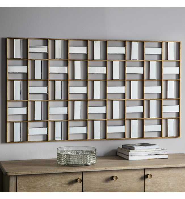 Empire Geometric Gold Wall Mirror