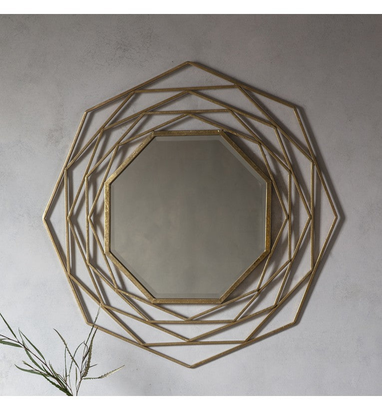 Estella Gold Octagonal Wall Mirror