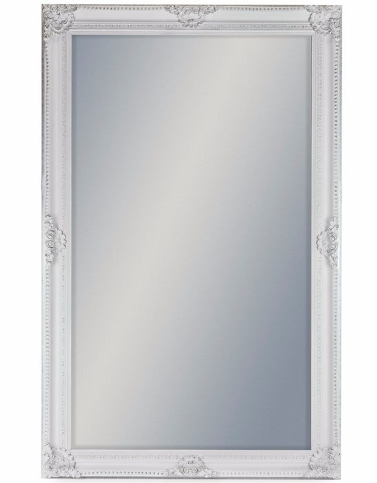 Large Antique White Rectangular Classic Mirror