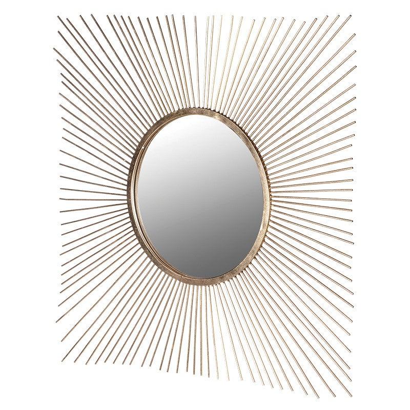 Gold Square Spikes Wall Mirror