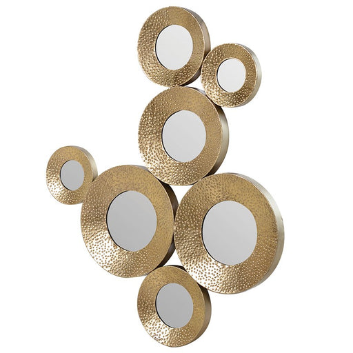 Gold Circles Decorative Wall Mirror