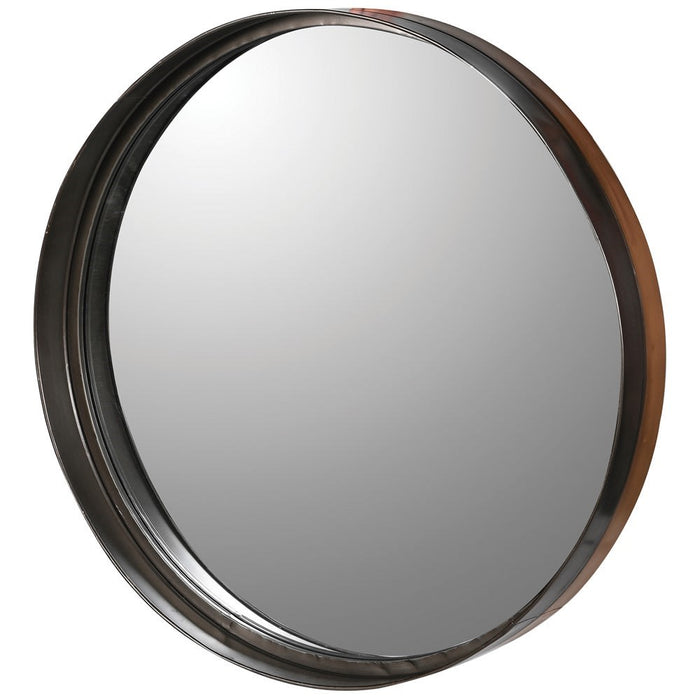 Round Deep Metal Frame Wall Mirror