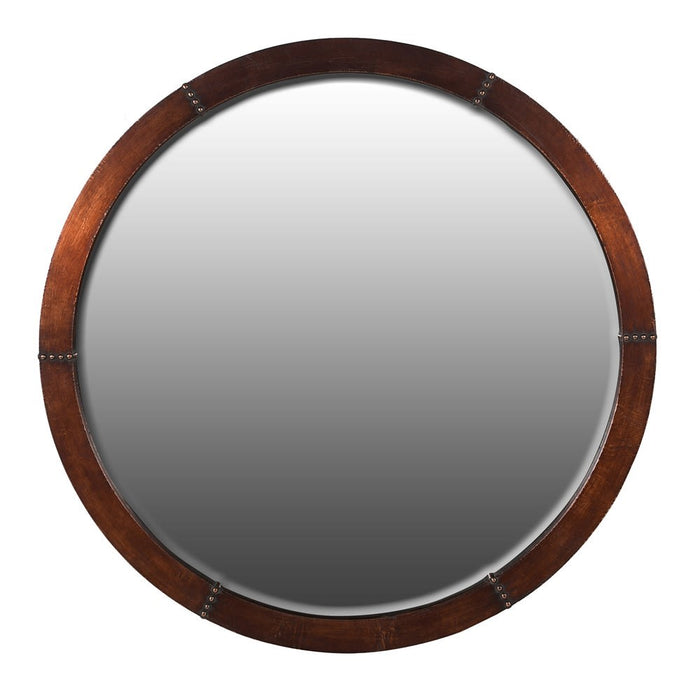 Round Copper Wall Mirror
