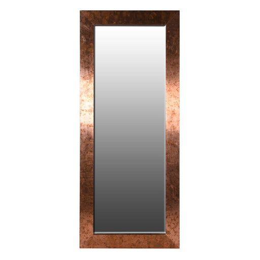 Large Copper Wide Frame Mirror