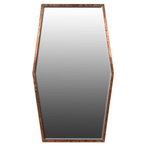 Shaped Copper Wall Mirror