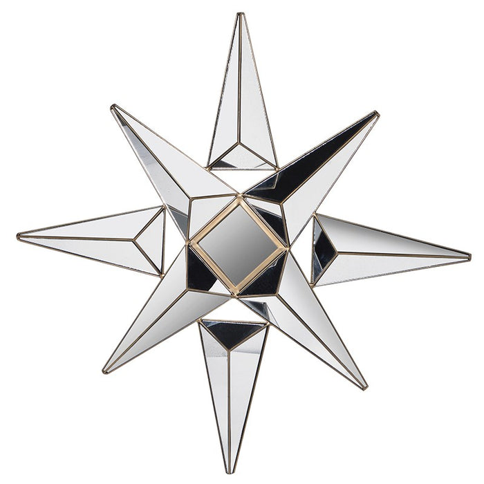 Gold Venetian Star Wall Mirror