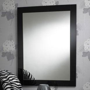 Modern Rectangular Black Bordered Wall Mirror-Art Deco Mirror-Chic Concept