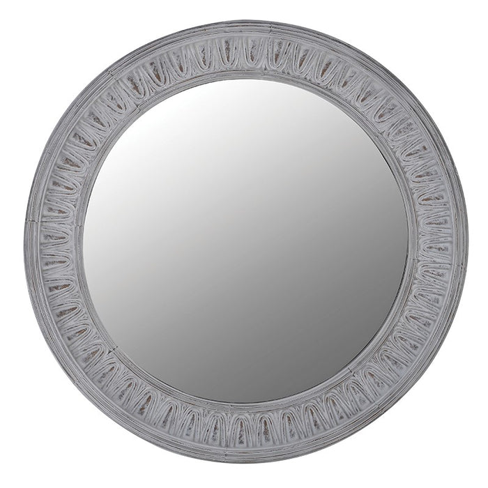 Round Patterned Edge Wall Mirror