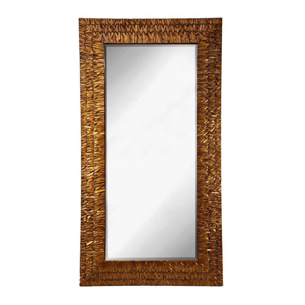 Fern Antique Gold Rectangular Wall Mirror