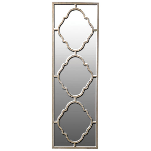 Alhambra Venetian Rectangular Gold Trim Wall Mirror