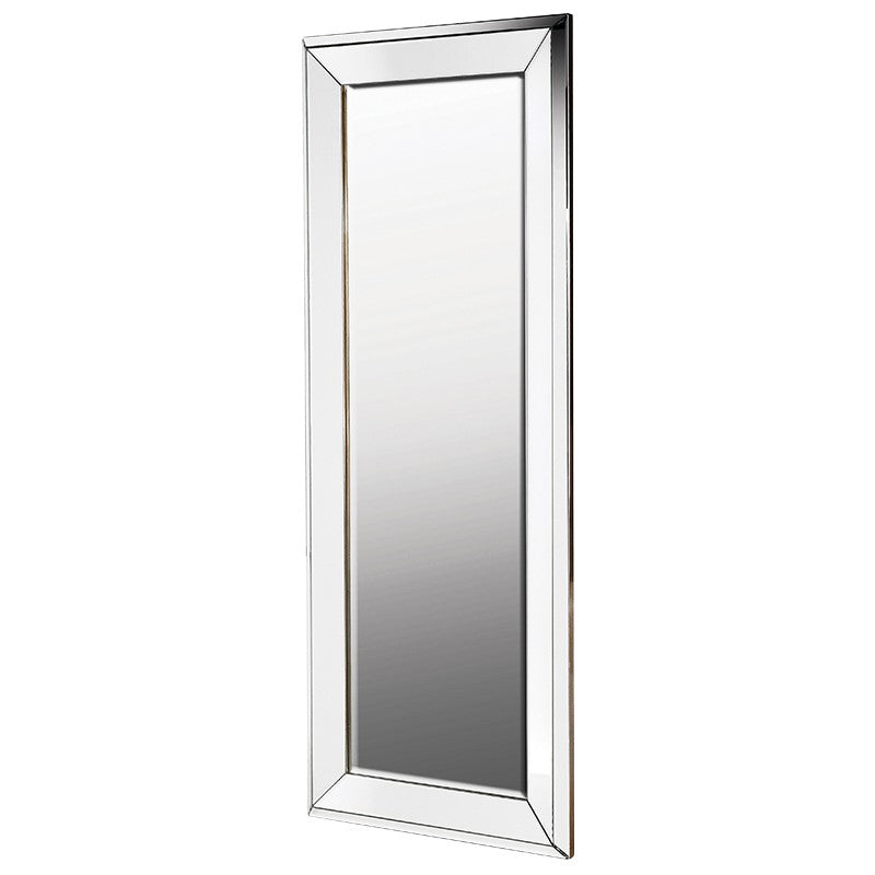 Silver Bevelled Tall Mirror