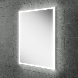 Globe LED Rectangular Bathroom Wall Mirror - 70 cm x 50 cm