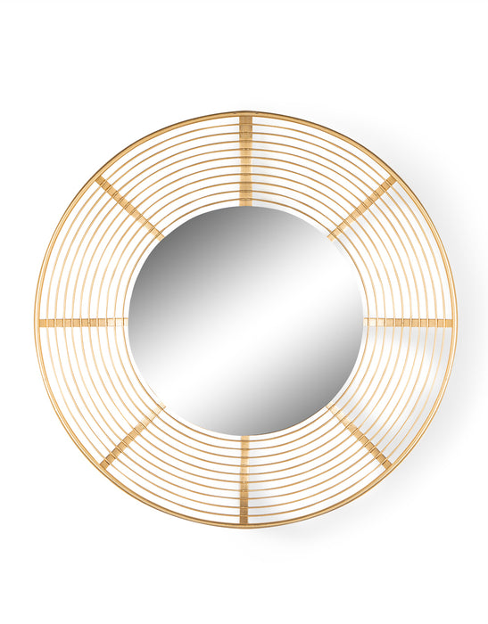 Modern Gold Metal Framed Round Dish Wall Mirror Total Mirrors